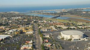 Aerial view of Midway District