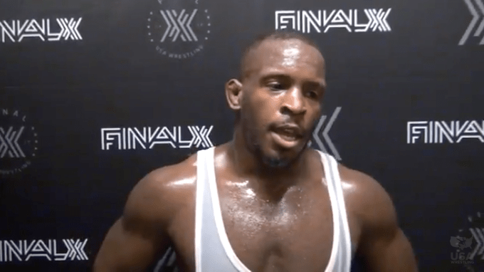 Richard Perry, shown in 2018 interview after wrestling with Team USA.