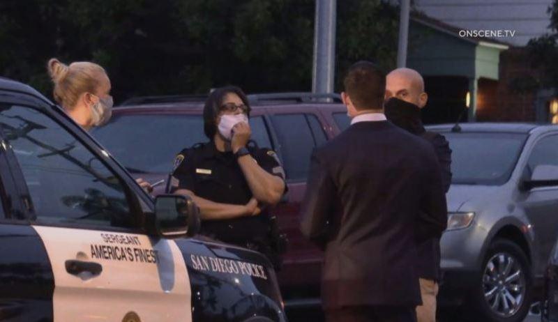 San Diego Police at scene of stabbing