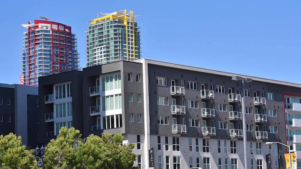 New apartments in downtown San Diego