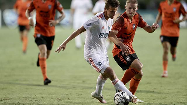 Although San Diego Loyal created chances for goals, no strikes landed in the net