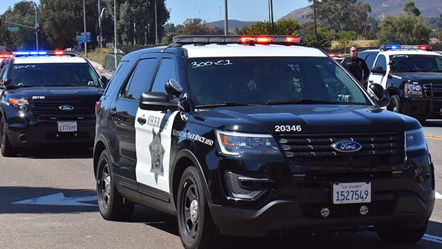 San Diego Sheriff's Department. Photo by Chris Stone