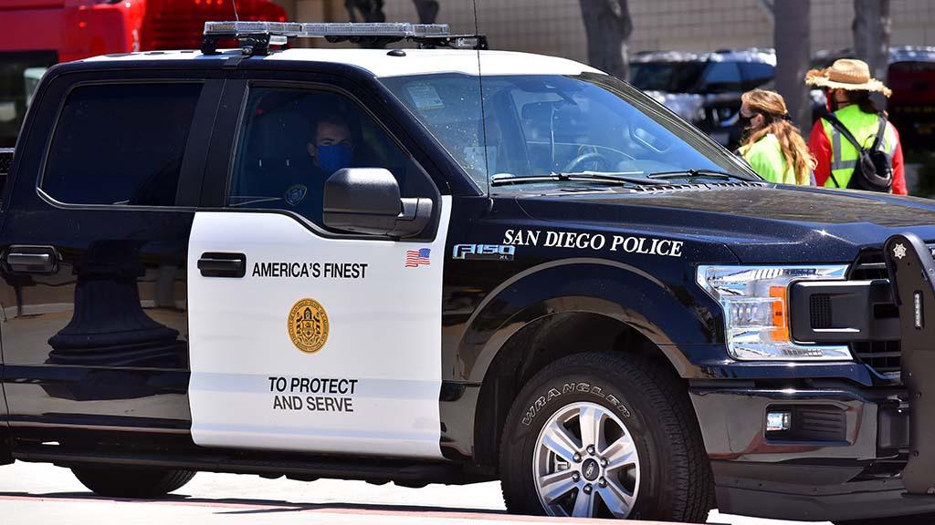 San Diego Police cruiser.