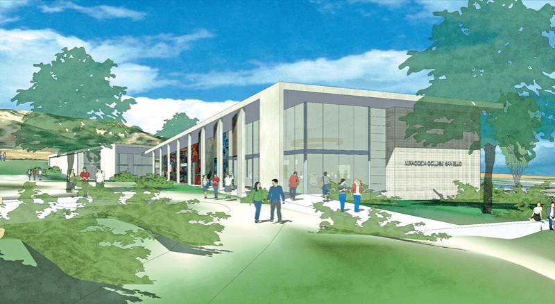 Artist rendering shows new building design