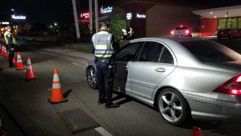Chula Vista officers at DUI checkpoint