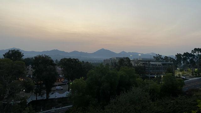 Hazy sunrise