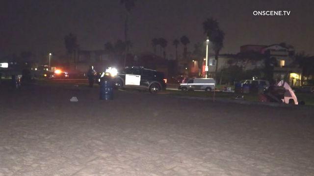 Scene of shooting in Ocean Beach