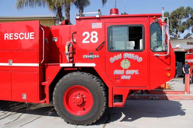A San Diego Fire-Rescue engine