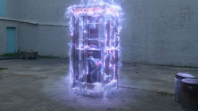 Bill and Ted's time-traveling phone booth