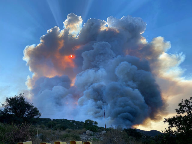 Smoke from the Valley Fire