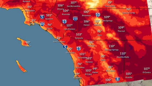 Forecast highs on Friday