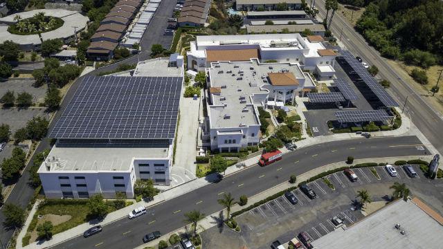 Solar panels on a nonprofit in Vista