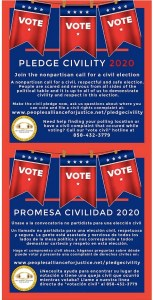 Civility pledge graphic from People's Alliance for Justice.