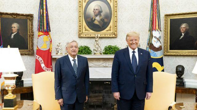 Andrés Manuel López Obrador with Donald Trump
