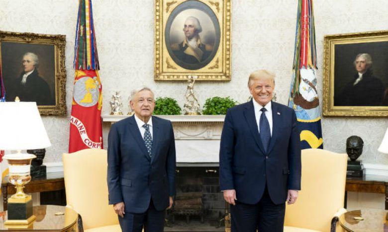 Andres Manuel López Obrador with Donald Trump
