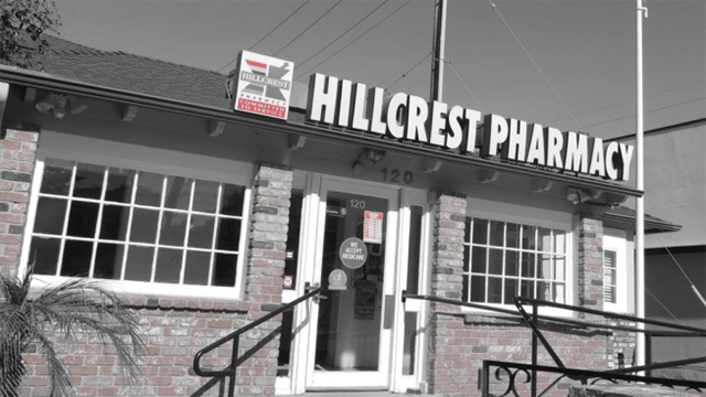 The AIDS Healthcare Foundation has acquired Hillcrest Pharmacy in a deal with terms that were not disclosed. Photo via Facebook.
