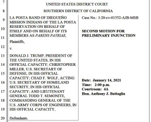 New motion for preliminary injunction against border-wall construction.