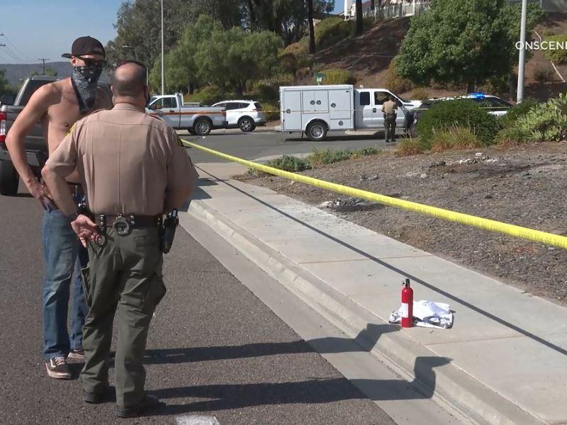 Deputies investigate burning