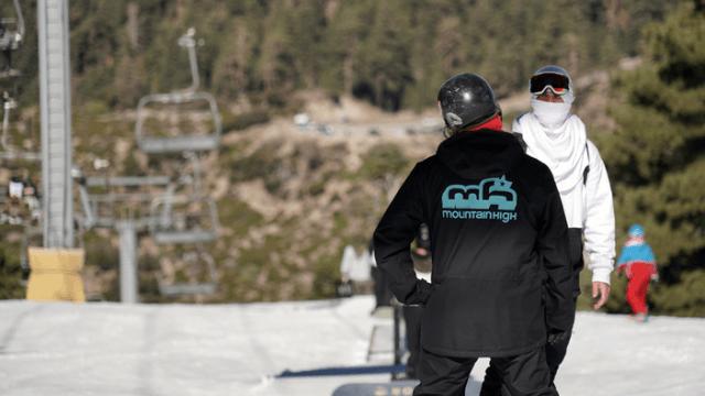 A ski resort employee