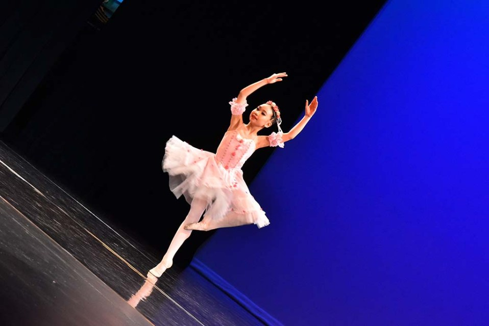 A young girl competes at the Ray and Joan Kroc Center in Rolando for a chance at going to New York City in the Youth America Grand Prix ballet competition.