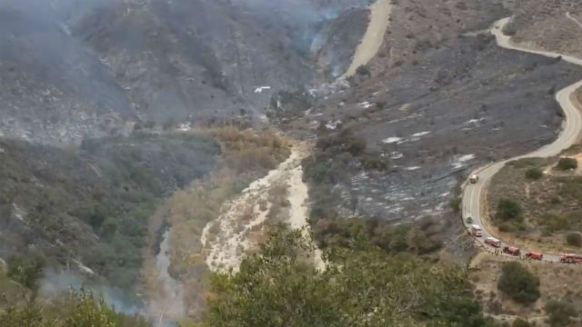 Aerial view of Creek Fire