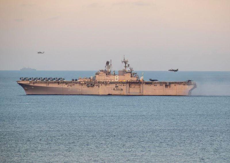 F-35B lands aboard USS Makin Island