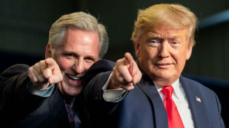 Kevin McCarthy and Donald Trump