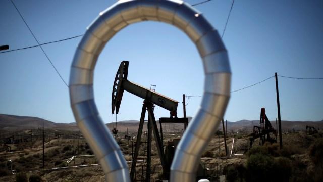 An oilfield in California