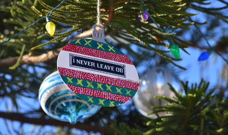 Community members bought and decorated wooden ornaments to add to the local flavor of the tree.