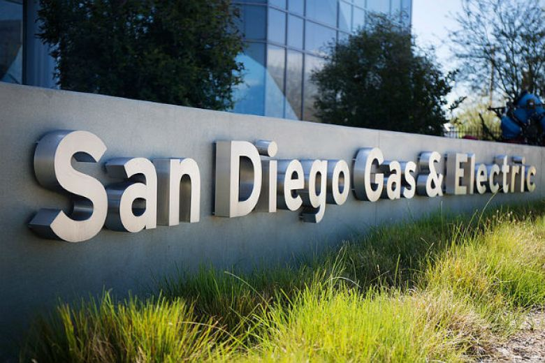 Sign outside San Diego Gas & Electric building