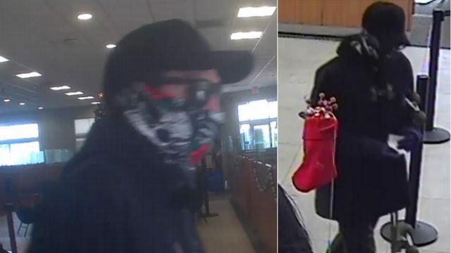 FBI surveillance photos of robbery suspect