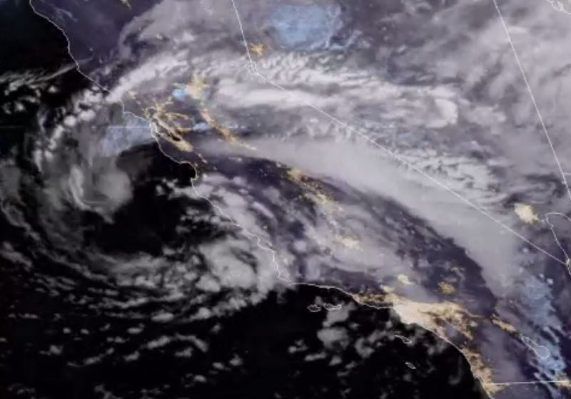 Infrared satellite photo of the storm system