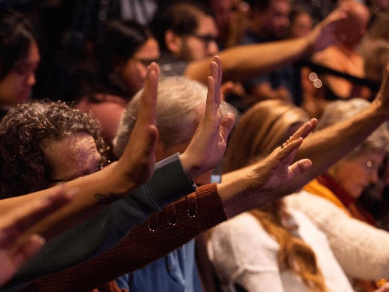 Worshipers at Awaken Church.