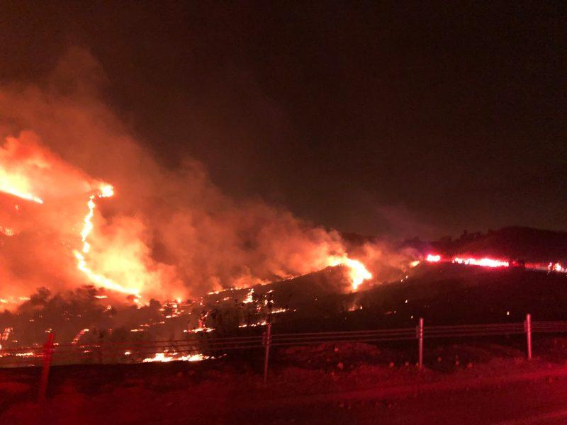 Creek Fire burns