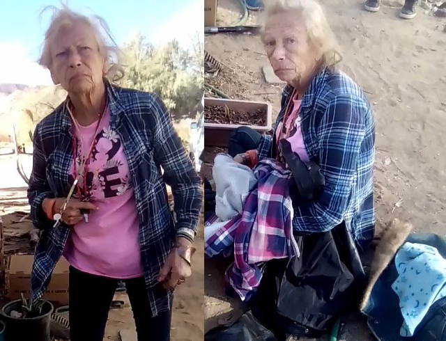 Friends of East County's Diane Mattingly are circulating these photos of her taken earlier this month.