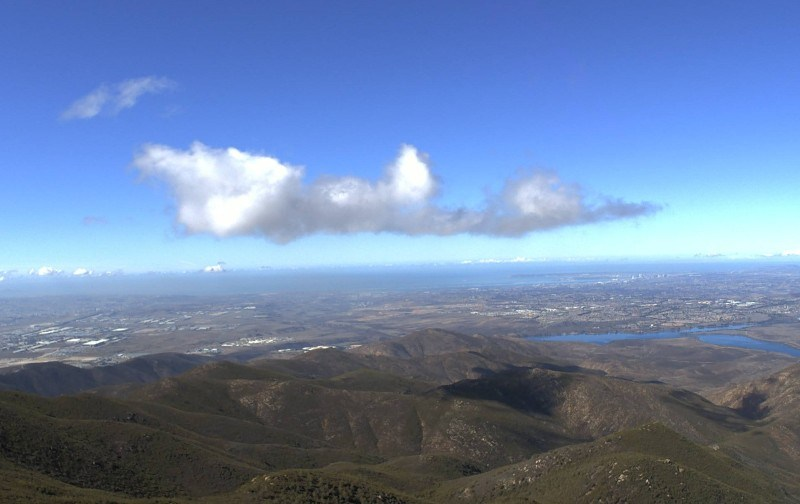 Sunny view from Otay Moutain