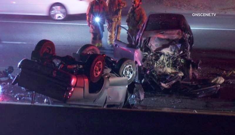 DUI crash wreckage