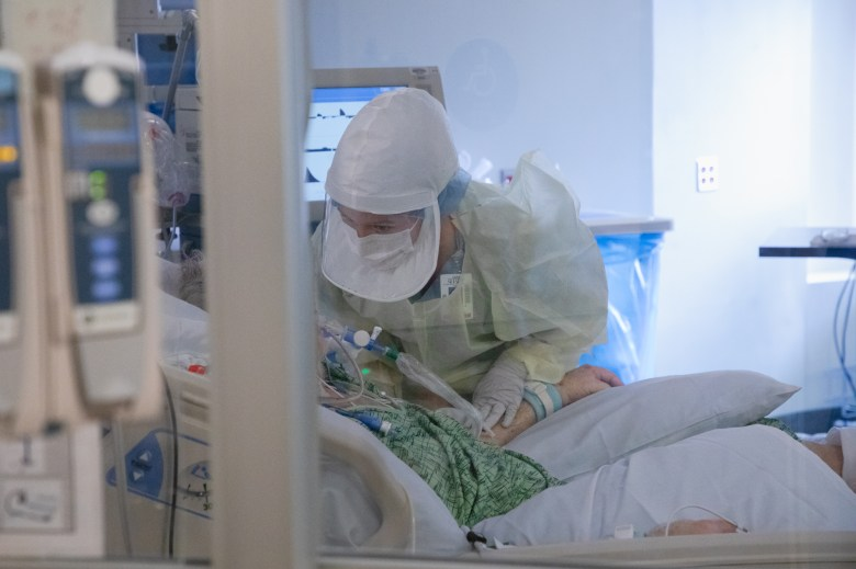 Coronavirus patient at Sharp Grossmont Hospital