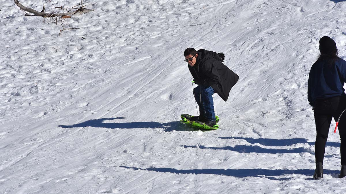 The surfing/snow boarding technique usually lasted only seconds.