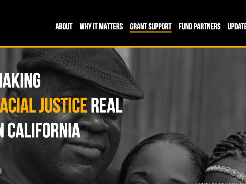Systemic racism California philanthropy