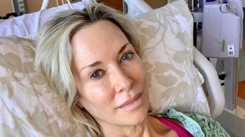 Barbara-Lee Edwards in her hospital bed