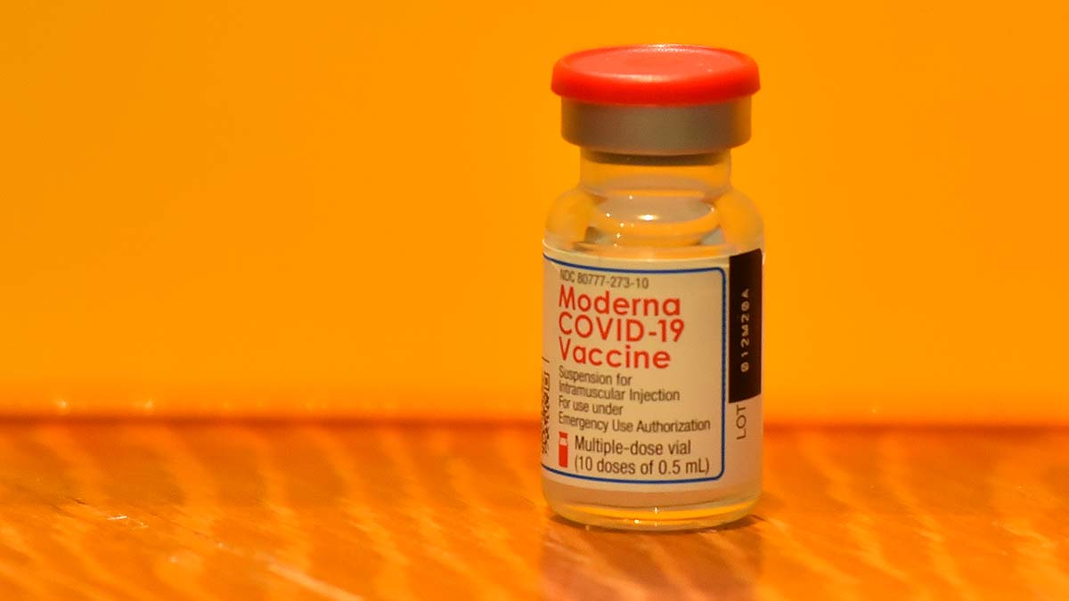 The Moderna Covid-19 vaccine requires two doses in 28 days.