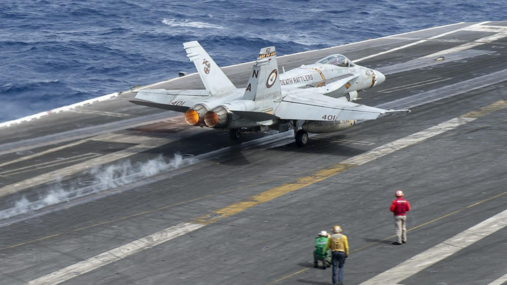 """An F/A-18C Hornet, from the """"Death Rattlers"""""""