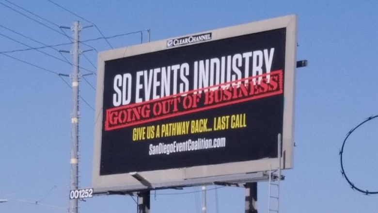 San Diego Event coalition billboard