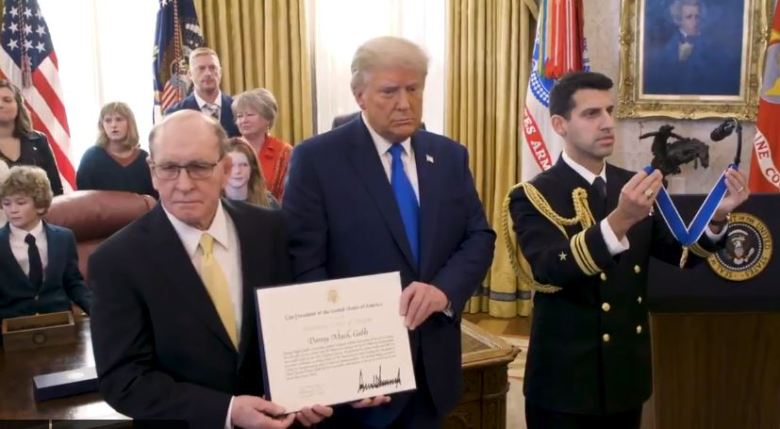 Trump presents Medal of Freedom