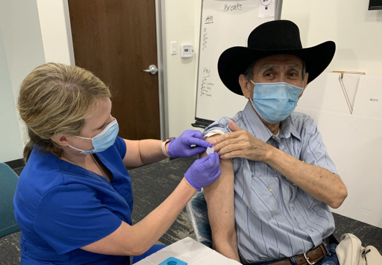 A vaccination in Oceanside