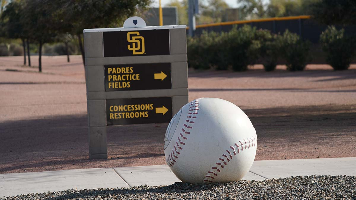The San Diego Padres have been conducting skill drills in Peoria before the start of the games.