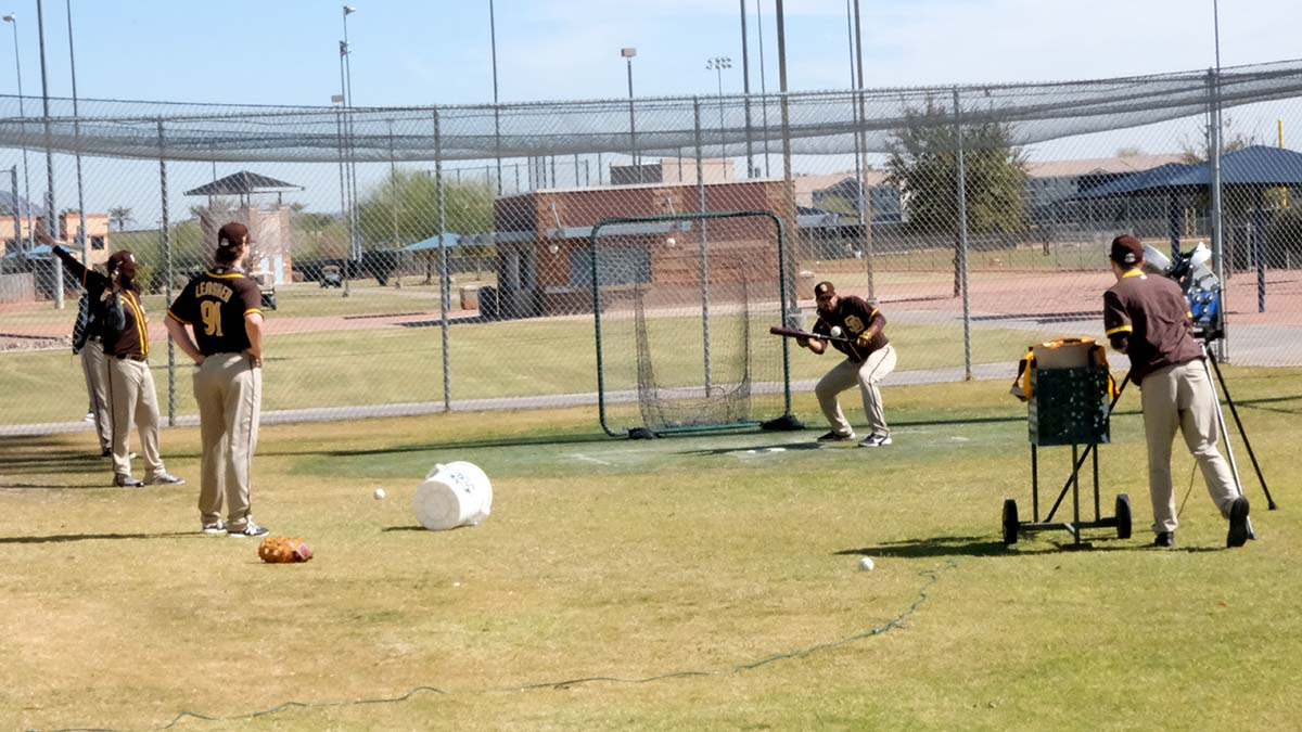 With no fans to watch, players an staff had the Peoria Sport Complex to themselves.