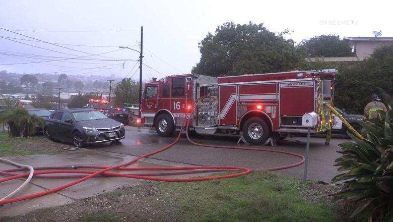 Firetrucks in Spring Valley