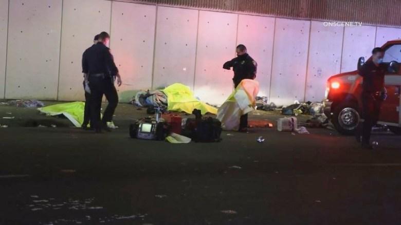 Police at scene of crash